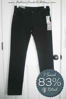 7 For All Mankind Classic Straight Leg in Black – March Random Find