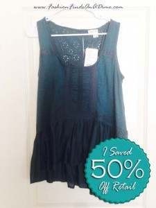 Anthropologie Lace Peplum Tank by Meadow Blue – May Find #5