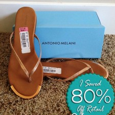 Antionio Melani Flip Flops – September Find #4