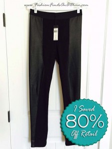 BCBG Maxazria Shelby Contrast Pleather Legging – January Find #1