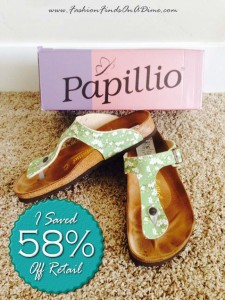 Birkenstock Gizeh by Papillo in Green Floral – July Find #3