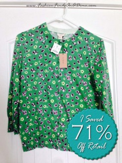 J.Crew Clare Floral Cardigan  – July Find #2