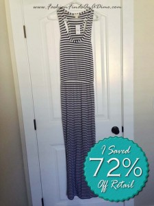 J.Crew Factory Striped Stretch Tank Dress – July Find #1