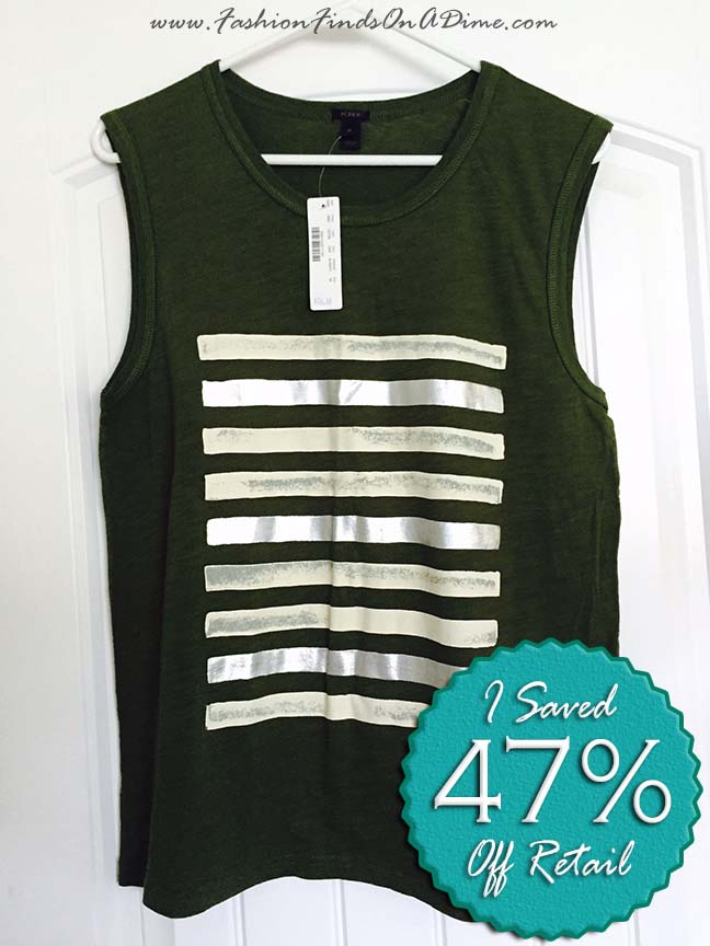 J.Crew Foil Striped Tank Top