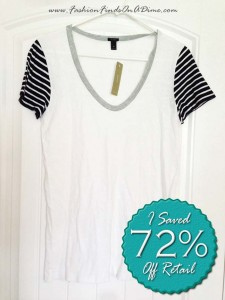 J.Crew Vintage Cotton Stripe-Sleeve Scoopneck Tee – June Find #2