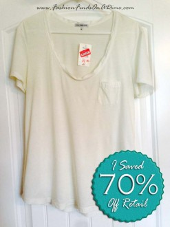 James Perse Tugged Pocket Tee – October Find #1
