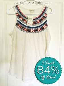 Lucky Brand Madera Embroidered Tank – May Find #1