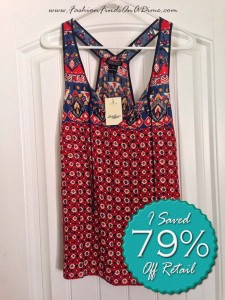Lucky Brand Printed Keyhole Tank – August Find #5