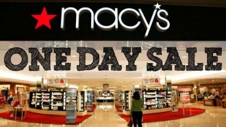 Macy's One Day Sale 11/19 and 11/20