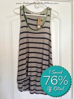 Michael Stars Bowery Stripe Tank with Neon Trim – August Find #6